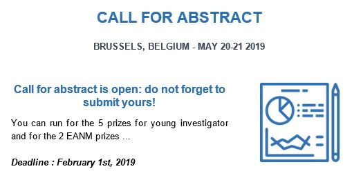 ECCN 2019: do no forget to submit your abstract before February 1st,2019